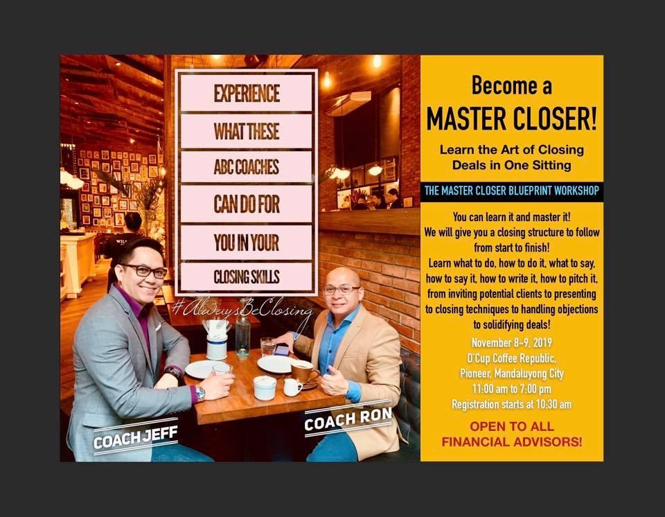 Master Closer Blueprint Workshop (Open Class)