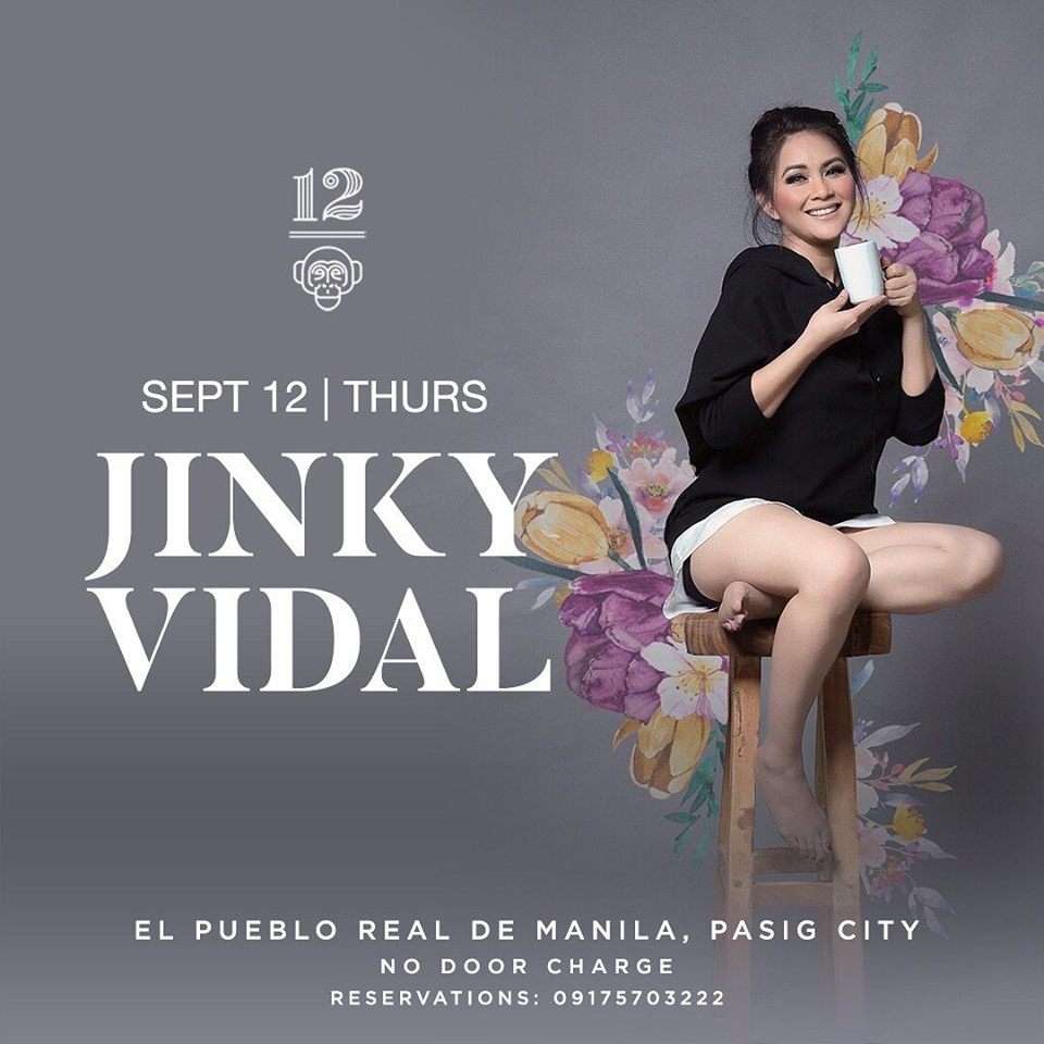 JINKY VIDAL AT 12 MONKEYS MUSIC HALL & PUB