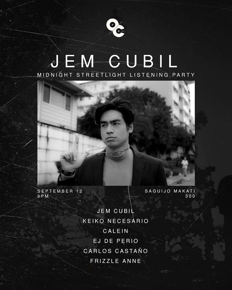 JEM CUBIL MIDNIGHT STREETLIGHT LISTENING PARTY AT SAGUIJO CAFE + BAR EVENTS
