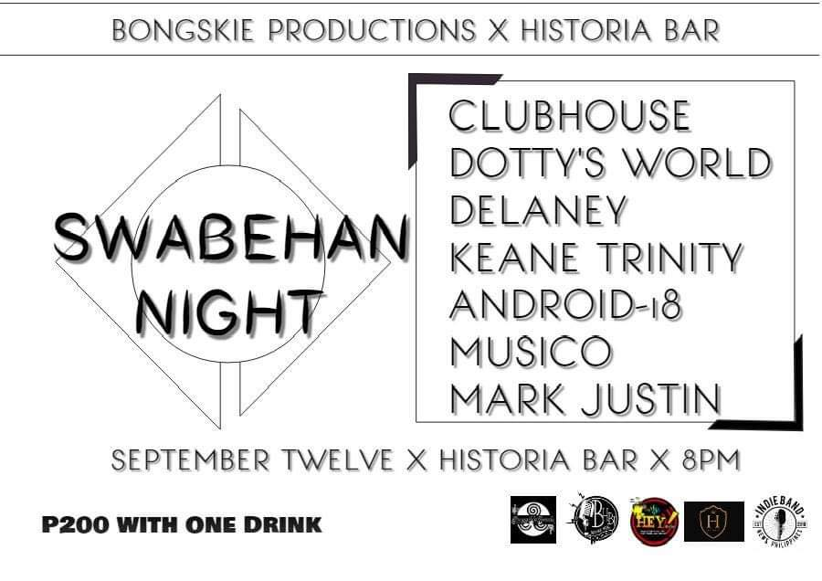 SWABEHAN NIGHT AT HISTORIA BOUTIQUE BAR AND RESTAURANT