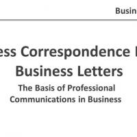 Baguio Workshop: Writing Effective Business Letters & Email