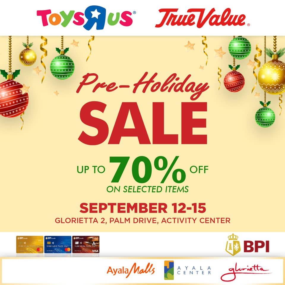 "TOYS ""R"" US PRE-HOLIDAY SALE"