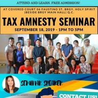 Tax Amnesty Seminar - Quezon City