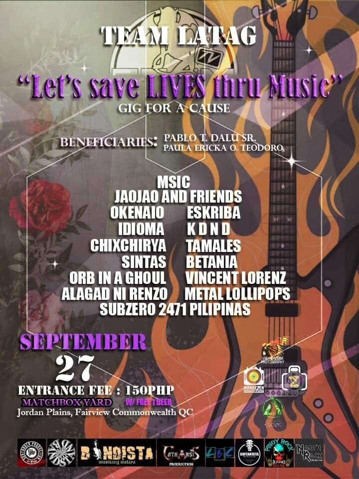 LET'S SAVE LIVES THRU MUSIC AT MATCHBOX YARD
