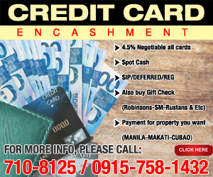 credit card encashment