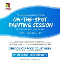 "Transwing Art Gallery ""on the spot session"""