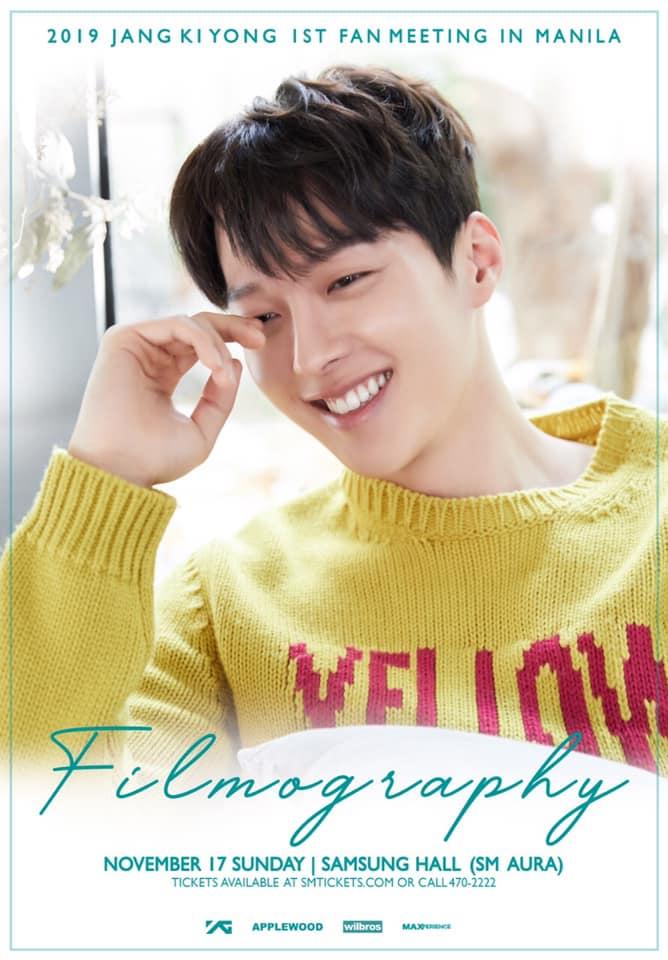 Jang Ki Yong 1st Fan Meeting Filmography in Manila