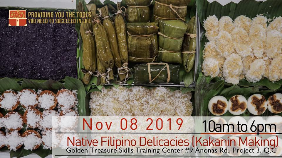 NATIVE FILIPINO DELICACIES (KAKANIN MAKING)