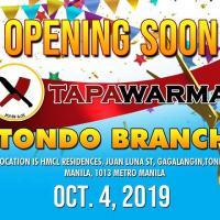 GRAND OPENING Tapawarma Tondo Branch