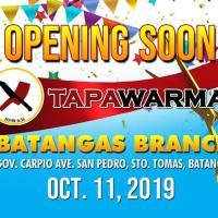 GRAND OPENIG Tapawarma SAN PEDRO Batangas Branch