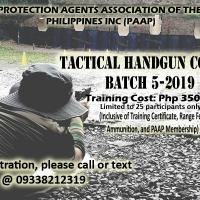 Tactical Handgun Course Batch 5-2019