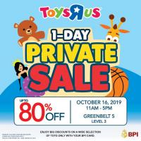 "TOYS""R""US 1-DAY PRIVATE SALE"