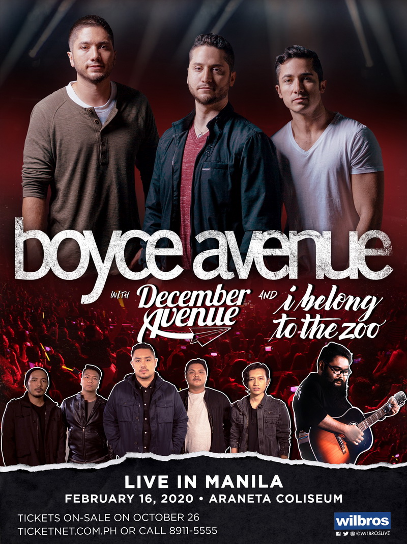 Boyce Avenue with December Avenue and I Belong To The Zoo Live at The Big Dome