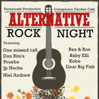 ALTERNATIVE ROCK NIGHT AT CONSPIRACY GARDEN CAFE