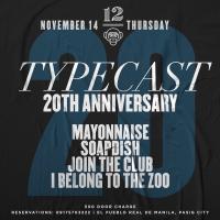 TYPECAST 20TH ANNIVERSARY SHOW AT 12 MONKEYS MUSIC HALL & PUB
