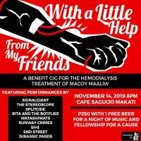 JUST GO MEN! : A BENEFIT GIG FOR THE HEMODIALYSIS TREATMENT OF MACOY MAALIW AT SAGUIJO CAFE + BAR EVENTS