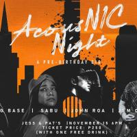 ACOUSNIC NIGHT: A PRE-BIRTHDAY GIG AT JESS & PAT'S