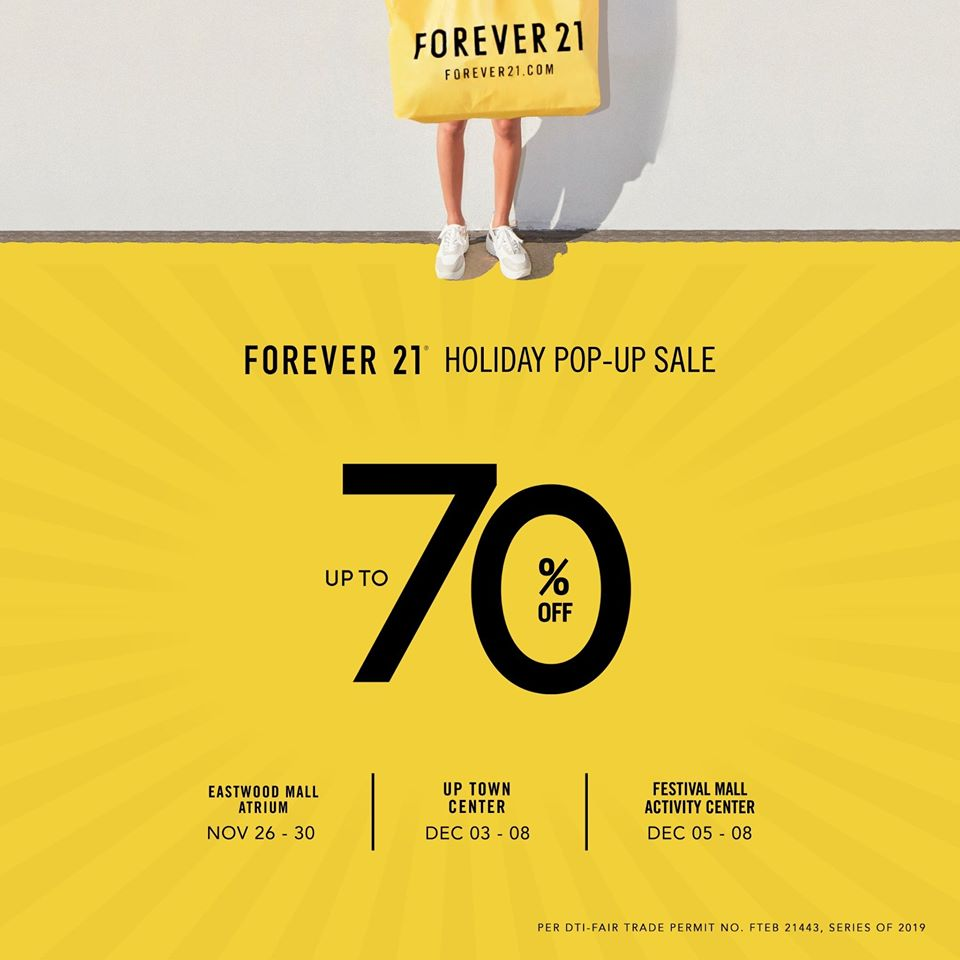 FOREVER 21'S HOLIDAY POP-UP SALE