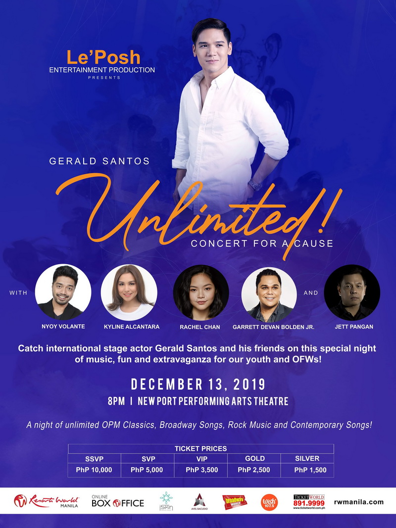 Gerald Santos Unlimited, A Concert For A Cause