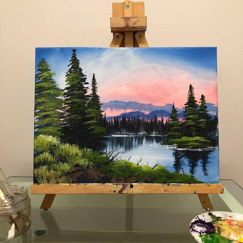 Paint Like Bob: Island in the Wilderness
