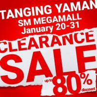 TANGING YAMAN CLEARANCE SALE