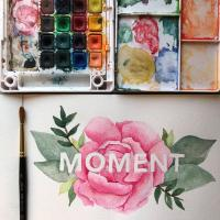 Watercolor Florals with Lettering Workshop