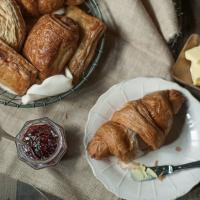 Layers of Croissants, Danish and Puff Pastries