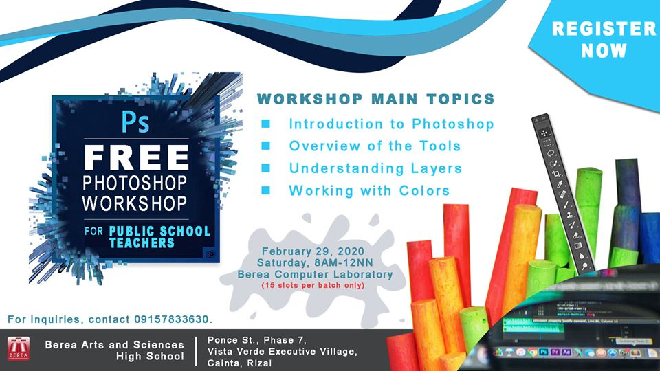 Free Adobe Photoshop Workshop for Public School Teachers