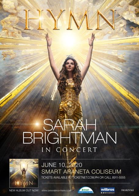 Sarah Brightman HYMN in Concert World Tour in Manila 2020