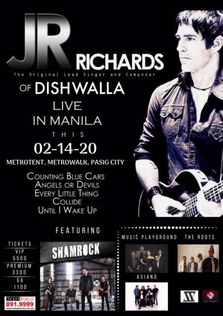 JR Richards of Dishwalla Live in Manila