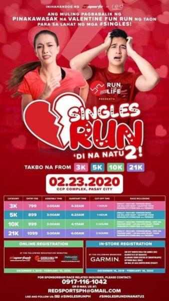 Singles Run 2020 3/5/10/21K