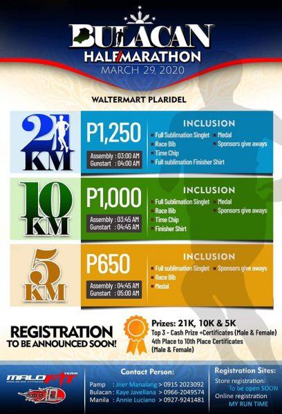 Bulacan Half Marathon 2020 5/10/21K