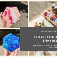 Fluid Art Painting w/ Resin
