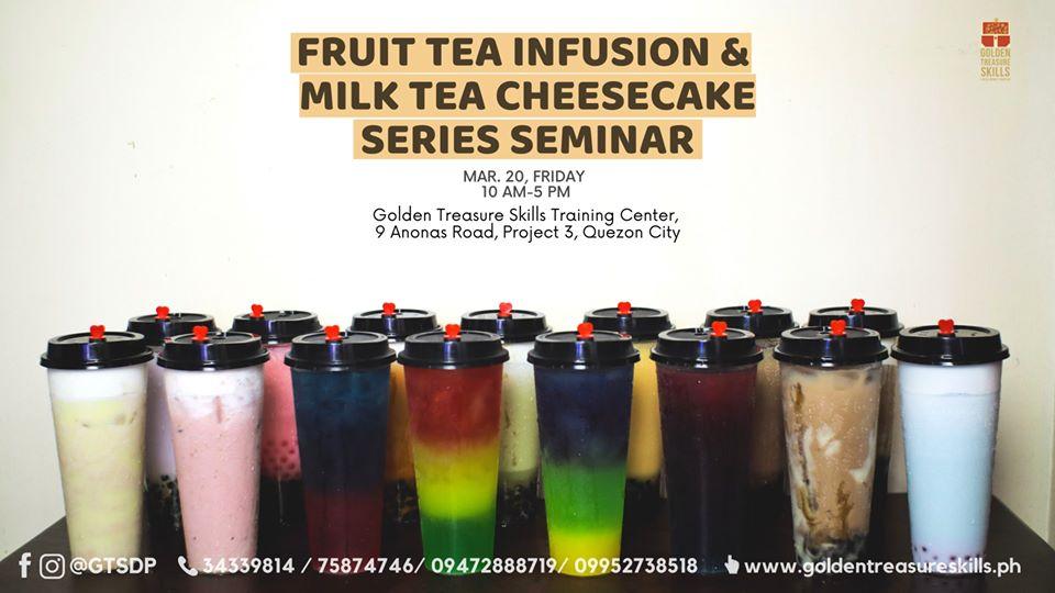 Fruit Tea Infusion and Cheesecake Milk Tea seminar set