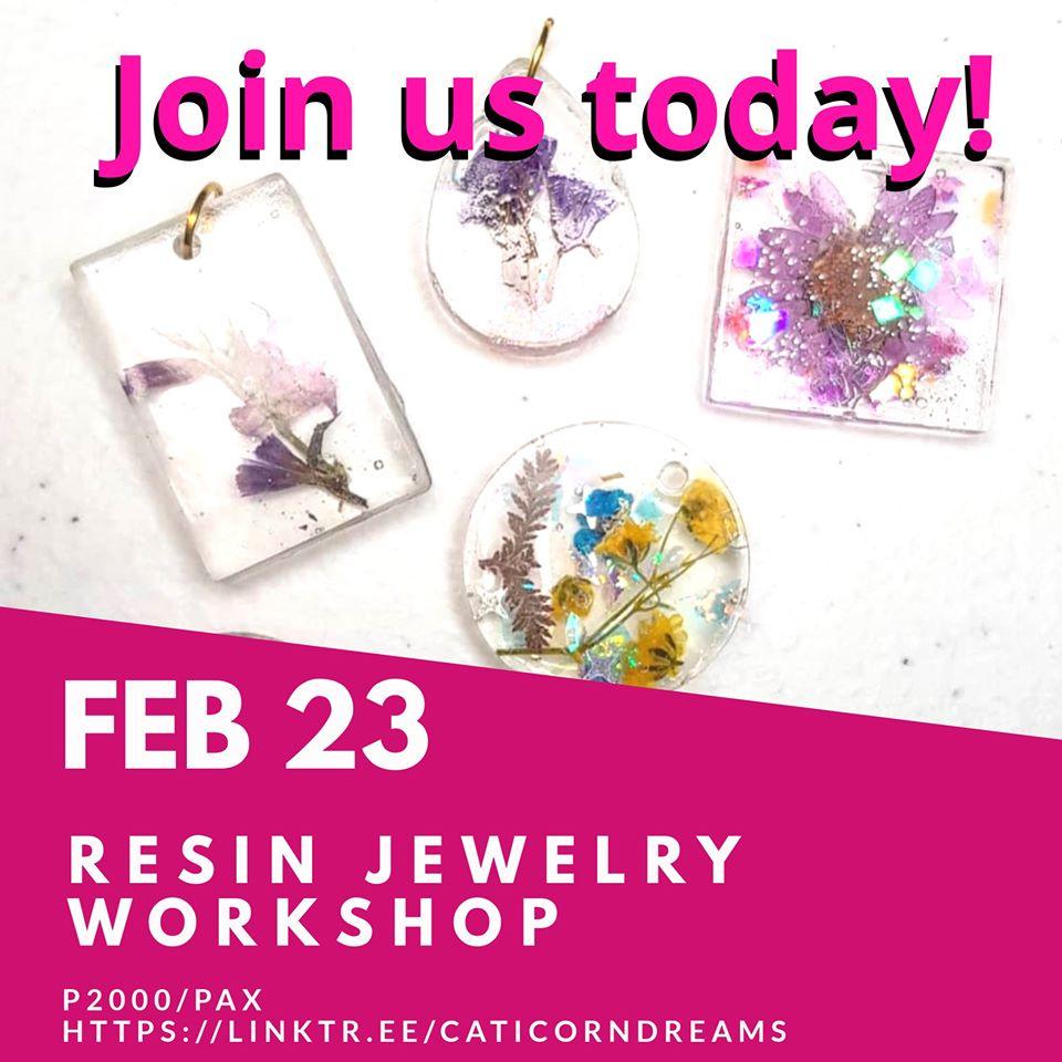 Resin Jewelry Workshop