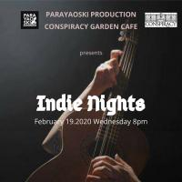 INDIE NIGHTS AT CONSPIRACY GARDEN CAFE