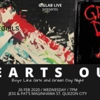 GIGLAB LIVE: HEARTS OUT (BOYSLIKEGIRLS X GREEN DAY NIGHT) AT JESS & PAT'S