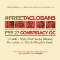 FREE THE TACLOBAN 5 AT CONSPIRACY GARDEN CAFE
