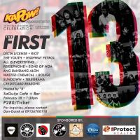 13TH OF MUSIC, LOVE, PEACE AND ROCK AND ROLL AT SAGUIJO CAFE + BAR EVENTS