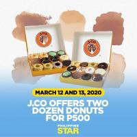 J.CO TWO DOZEN FOR 500