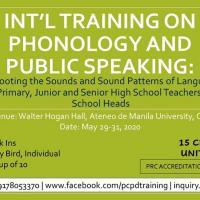 International Training-Workshop on Phonology and Public Speaking