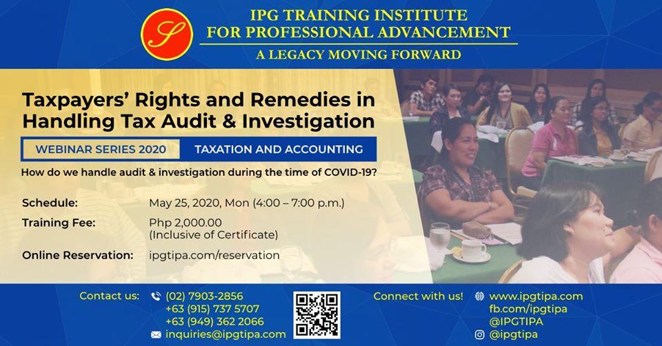 Handling Tax Audit & Investigation Webinar