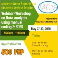 Webinar-workshop on data analysis using manual coding and spss