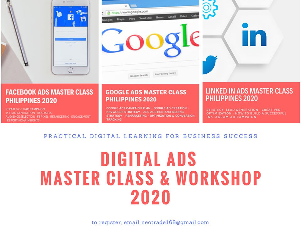 The 1st Digital Ads Master Class and Workshop Philippines 2020