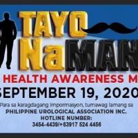 TayoNaMAn2020 #aYudaMan! (Men's Health Awareness Day) PUA