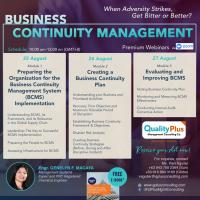 Webinar on Business Continuity Management
