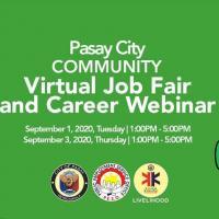 Pasay City Community Virtual Job Fair and Career Webinar
