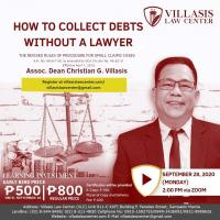 How to Collect Debts Without a Lawyer: A Seminar by Assoc. Dean Christian G. Villasis