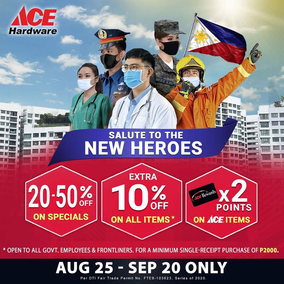 ACE Hardware salute to the new heroes