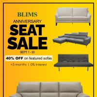 BLIMS Anniversary Seat Sale